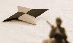 名古屋市守山区に落ちてる紙手裏剣の謎