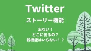Twitterにストーリー機能が出ない!どこに出るの?新機能「フリート」はいらない!?