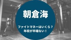 朝倉海ファイトマネーはいくら年収がすごい!